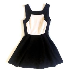 Finders Keepers Womens S Black Blush Skater Dress